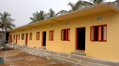 This building will house the children from Rajasthan